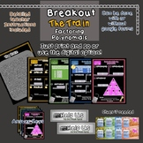 Breakout Escape Room The Train Algebra Topic Factoring Pol
