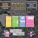 Breakout Escape Room Time Travel Algebra Topic Solving Qua