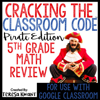 Cracking the Classroom Code™ 5th Grade Math Review Game Escape Room