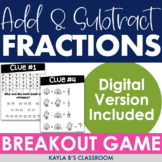 Breakout Game: Adding and Subtracting Fractions (Digital B