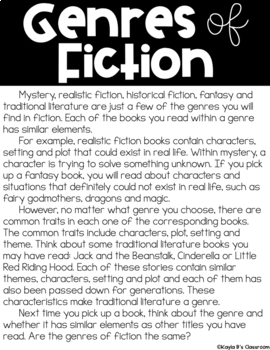 Breakout Game: Genres of Fiction