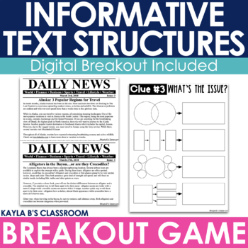 Breakout Game: Informative Text Structures