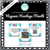Spanish Culture / Hispanic Heritage Month Customizable Escape Room/Breakout Game