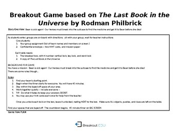 Breakout Game for The Last Book in the Universe