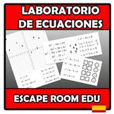 Escape room edu - Laboratorio de ecuaciones