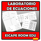 Escape room edu - Laboratorio de ecuaciones