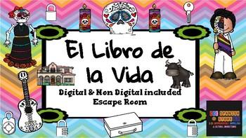 Escape Room:  Digital and Non Digital Versions included - El Libro de la Vida