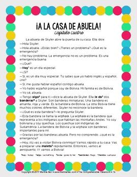 BreakoutEDU activity in Spanish: Un escape con abuela