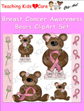 Breast Cancer Awareness Bears ClipArt Set