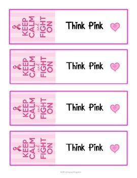 October Breast Cancer Awareness Bookmarks - Hope! Fight! Win! FREE