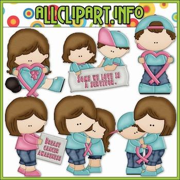 BUNDLED SET - Breast Cancer Clip Art & Digital Stamp Bundle - Alice Smith