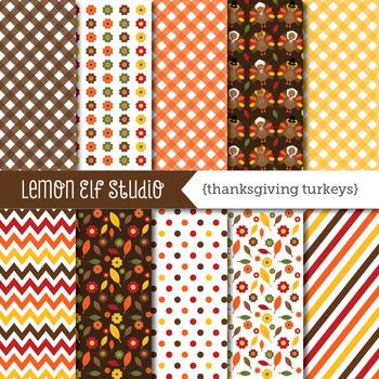 Thanksgiving Turkeys-Digital Paper (LES.DP60)