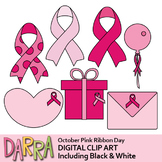 Breast Cancer Awareness, Pink Ribbon Day Clip Art
