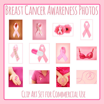 Breast Cancer Awareness Ribbons Photo / Photograph Clip Art Commercial Use