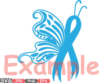 Breast Cancer Butterfly SVG Props clipart Awareness autism ribbon survivor 544s