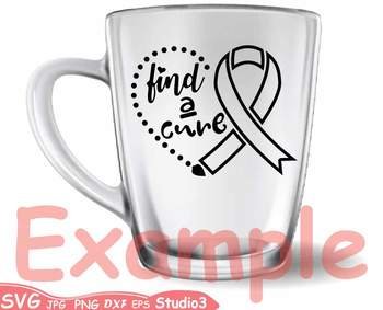 Breast Cancer Ribbon Silhouette clipart heart faith hope cure Awareness svg 59sv