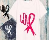 Breast Cancer awareness SVG cancer svg svgs cut file printable pink ribbon 934S