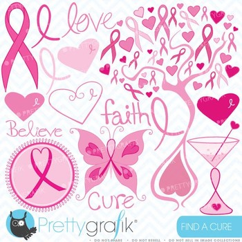 Breast cancer clipart commercial use, vector graphics, digital clip art - CL389