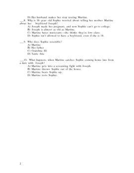 Breath, Eyes, Memory Quiz (pages 3-85)