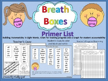 Free: Breath boxes for primer sight words