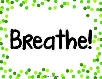 Distance Learning Breathe Poster