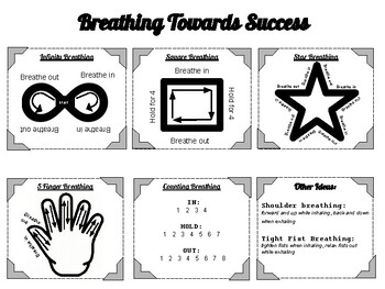Breathing Strategies Poster for Classroom