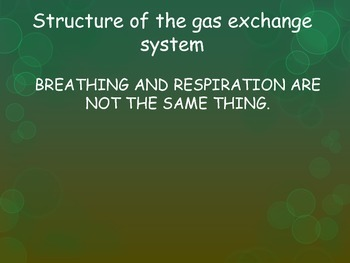 Breathing and Gas exchange Lesson 1 (Chapter 3 IGCSE Biology Edexcel)