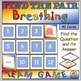 Breathing and the Respiratory System Find the Pair Team Game for Middle School