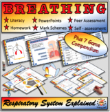 Breathing and the Respiratory System-Fully Resourced Lesson Plus 7 Games