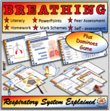 Breathing and the Respiratory System Fully Resourced Lesson Plus Dominoes Game