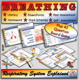 Breathing and the Respiratory System Fully Resourced Plus 42 Question Board Game