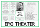 Brecht EPIC THEATRE Drama Poster