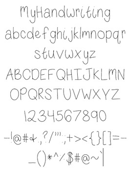 Breeze MyHandwriting Font - Free for personal and commercial use