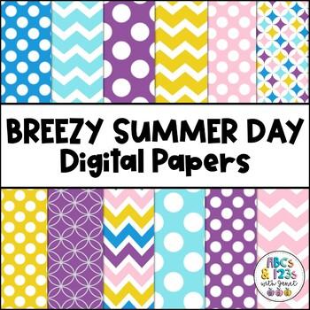Breezy Summer Day Digital Paper Pack