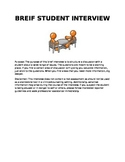 Breif Student Interview