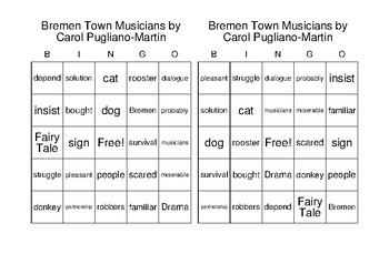 Bremen Town Musicians - BINGO