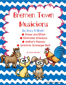Bremen Town Musicians Cause and Effect and More Packet