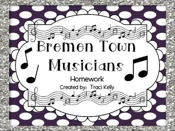 Bremen Town Musicians Homework - Scott Foresman 2nd Grade