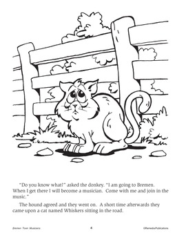 Bremen Town Musicians Coloring Page - Coloring Home | 350x270