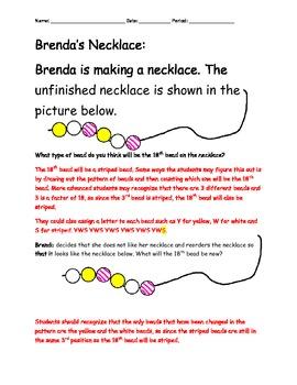 Brenda's Necklace Task (Patterns)