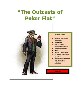 "Bret Harte ~ ""The Outcasts of Poker Flat"" COMMON CORE MASTER PACKET (14 pages)"