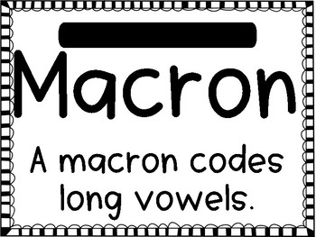 Breve and Macron Poster