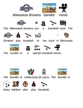 Brewers make Sandlot movie spoof - picture supported text lesson visuals