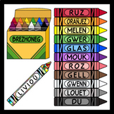 Crayons in Breton / Colors in Breton (High Resolution)