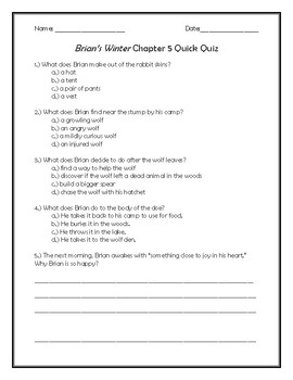 Brian's Winter Chapter 5 Quick Quiz