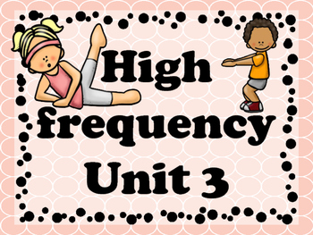 Brian break with High Frequency words unit 3 (journeys)