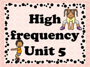 Brian break with High Frequency words Unit 5 (journeys)