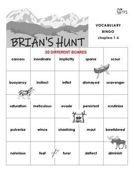 Brian's Hunt Vocabulary Bingo