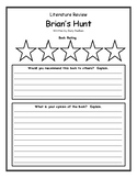 Brian's Hunt by Gary Paulsen Book Review, Opinion, Rating, Summary, Main Idea