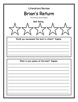 Brian's Return Gary Paulsen Book Review, Opinion, Summary, Main Idea